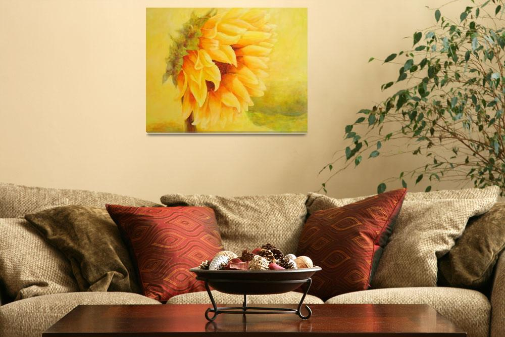 """""""Sunflower on sunny day&quot  (2009) by art-miri"""
