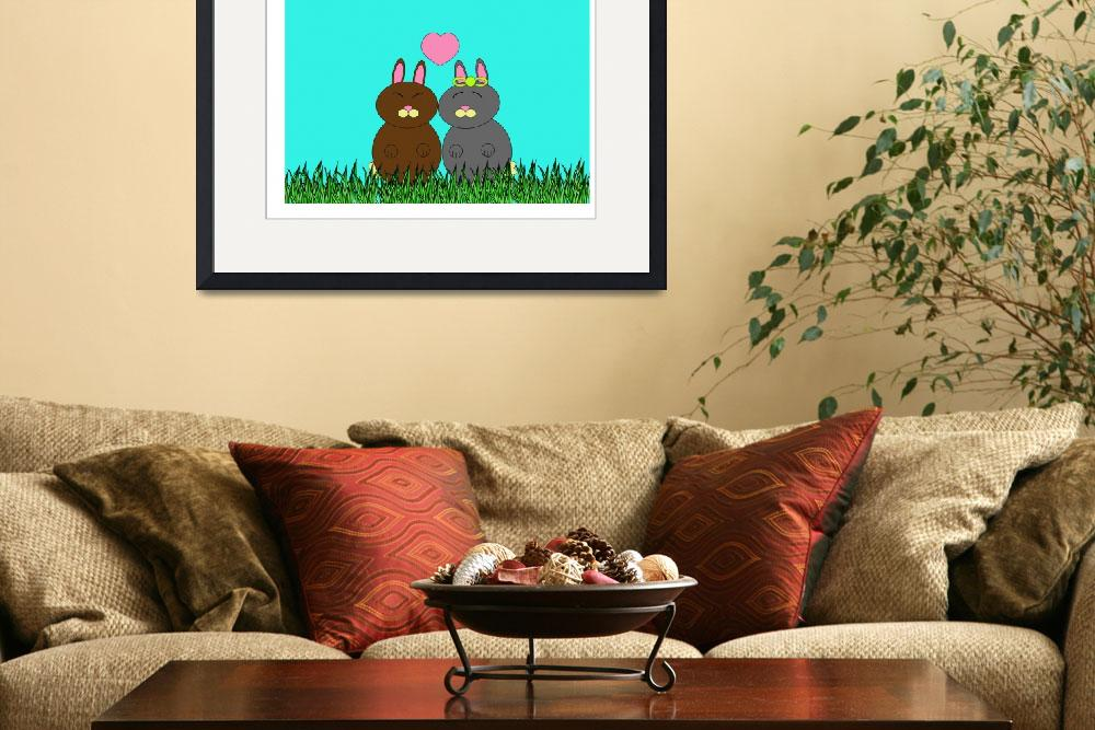 """""""Some Bunny Loves You""""  (2010) by ValeriesGallery"""