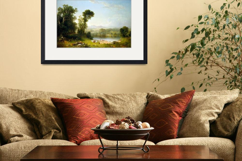 """Asher Brown Durand Pastoral Landscape""  by PDGraphics"