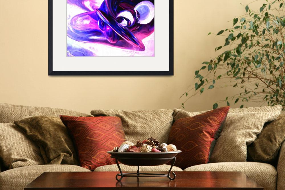 """""""Lilac Fantasy Painted Abstract&quot  (2014) by AlexButler"""