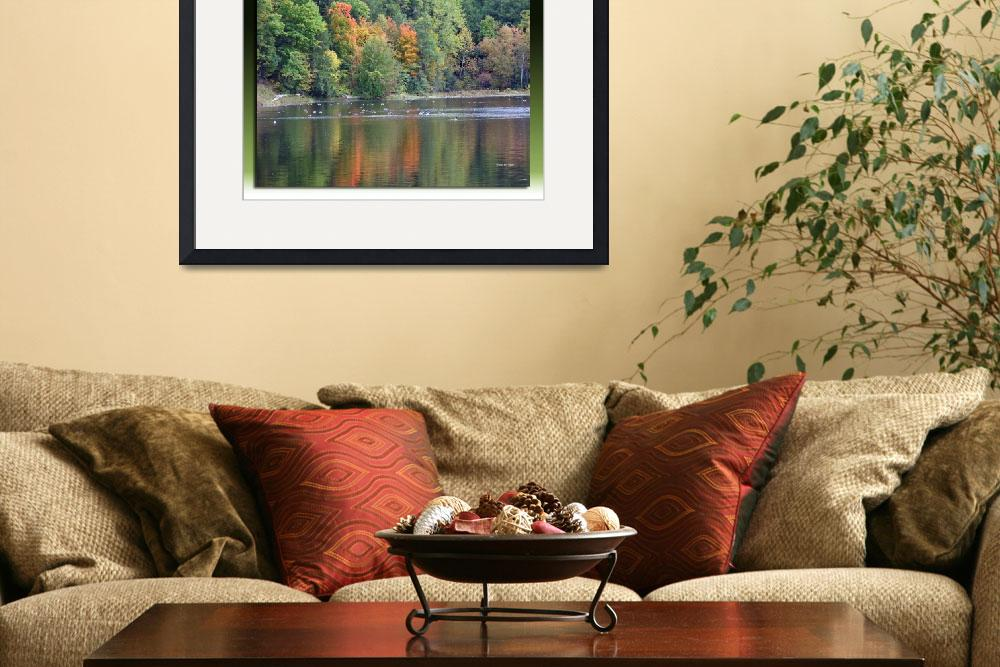 """""""Reflection of Fall Colors in the Water""""  by Nyles"""