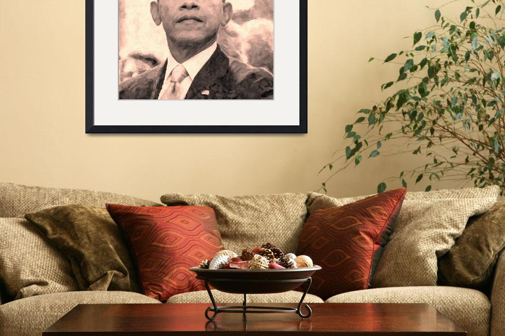 """""""Abstract Portrait of President Barack Obama 30x30&quot  by motionage"""