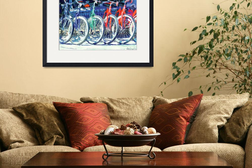 """Bikes in a Row by RD Riccoboni&quot  (2007) by RDRiccoboni"