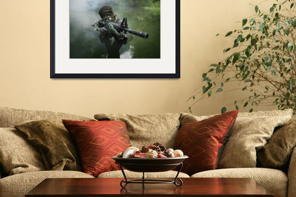 """""""Special operations forces soldier transits the wat&quot  by stocktrekimages"""