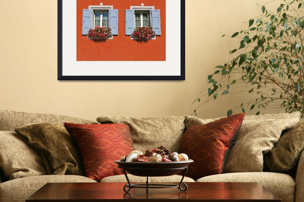 """""""Red Wall With Two Windows&quot  (2008) by tommyrey"""