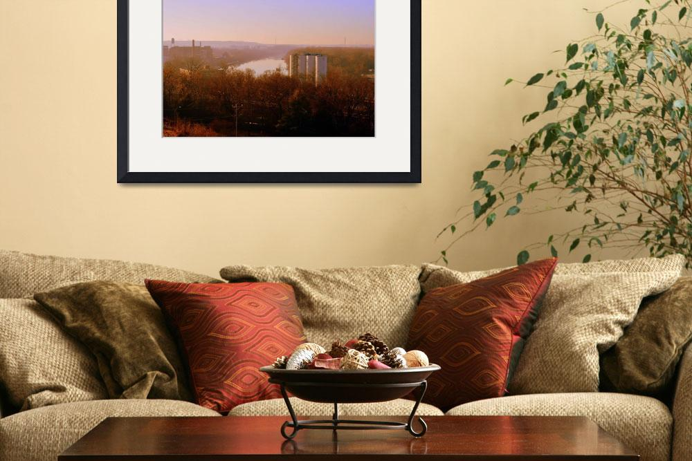 """""""James River Bend in Richmond&quot  (2015) by Artsart"""