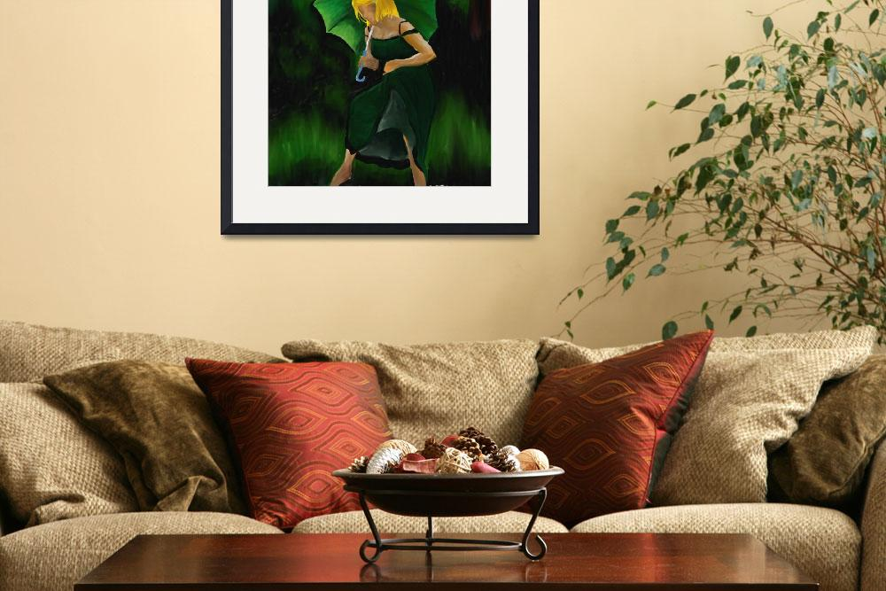 """""""Girl with Green Umbrella&quot  (2010) by themagicclicks"""