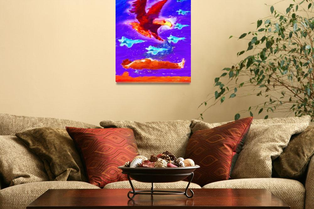 """""""PEACE THROUGH STRENGTH&quot  (2010) by KimRoeArt"""