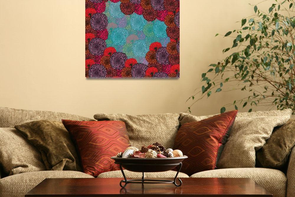 """Flower Frame""  (2011) by MaryDolan"