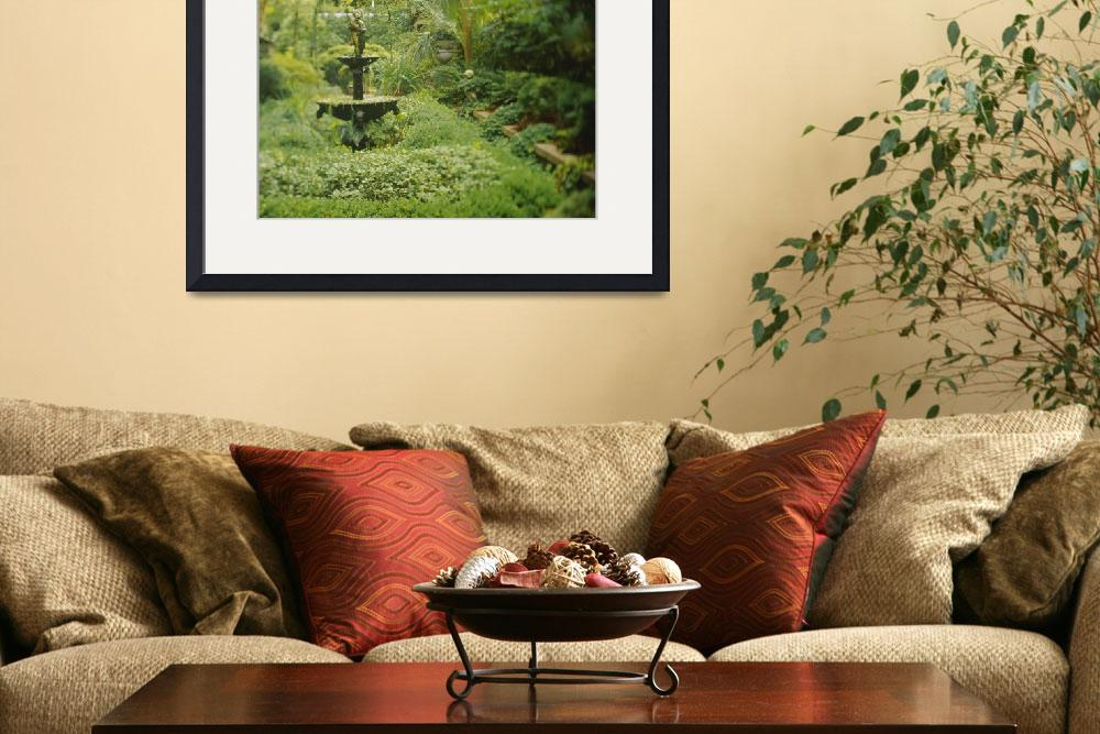 """""""Fountain in a garden&quot  by Panoramic_Images"""