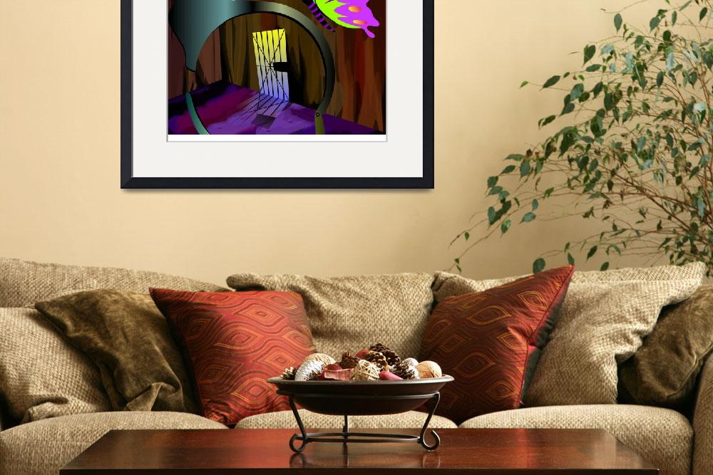 """""""Digital painting of butterfly inside the prison&quot  (2009) by digitalpainting"""