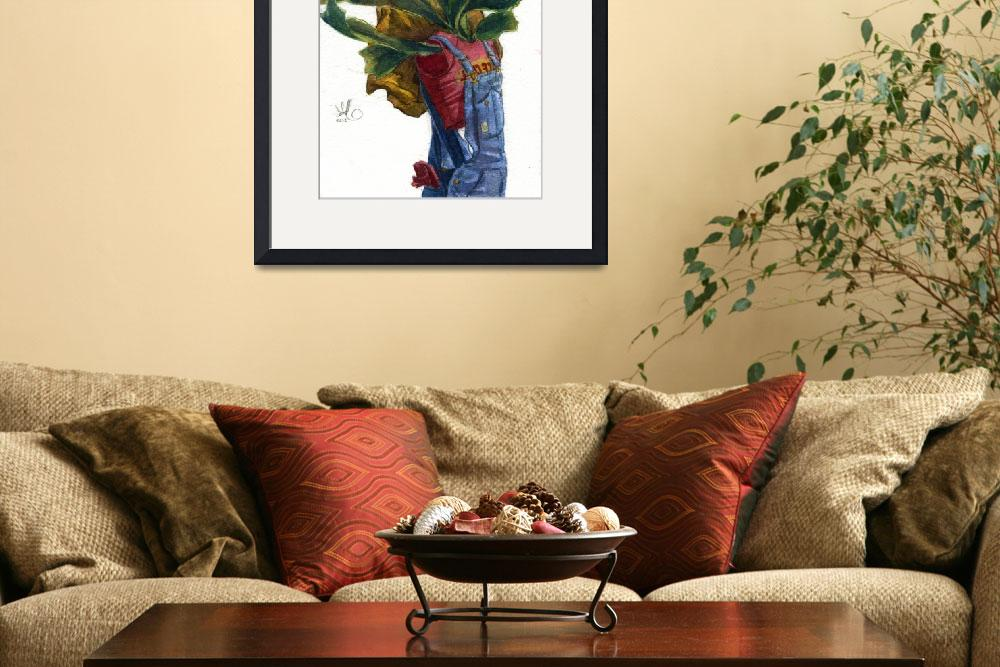 """""""Self Portrait with Staghorn Fern&quot  (2012) by dax"""