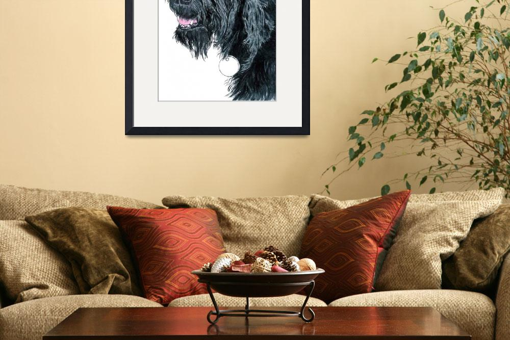 """""""Smiling Labradoodle""""  (2014) by mozache"""