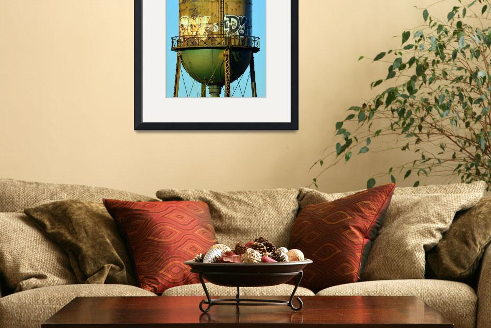 """""""Green Water Tower&quot  (2016) by Artsart"""
