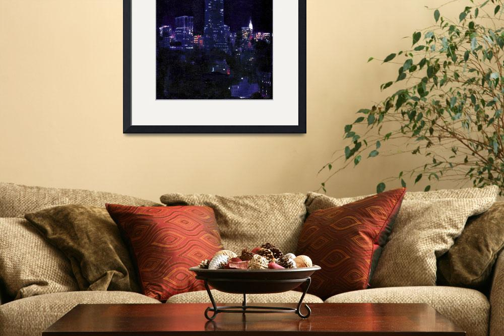 """""""Empire State Building At Night&quot  (2007) by RDRiccoboni"""