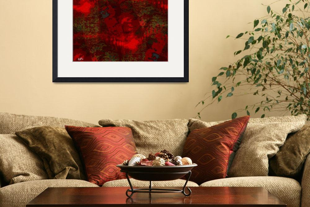 """COLOR OF RED CONTEMPORARY DIGITAL ART&quot  by grl"