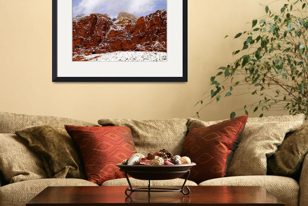 """Snow at Calico Hills&quot  (2008) by PadgettGallery"