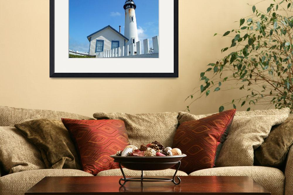 """Pigion Point Lighthouse""  (2004) by BobFikePhoto"
