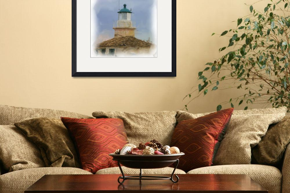 """""""Corfu old lighthouse""""  (2010) by clickinart"""