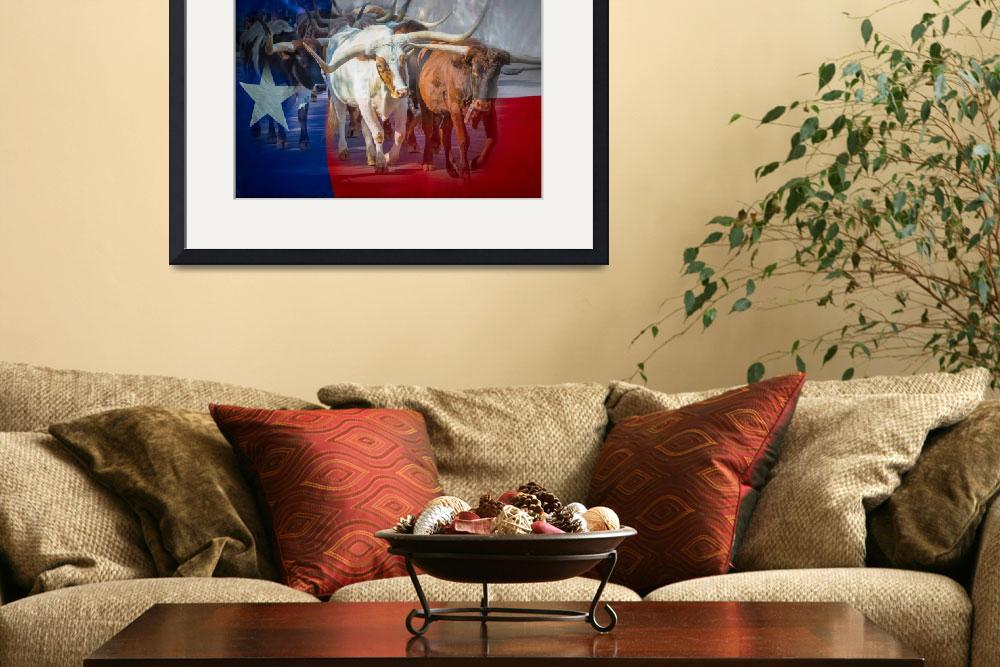 """""""Texas Longhorns&quot  (2014) by Inge-Johnsson"""