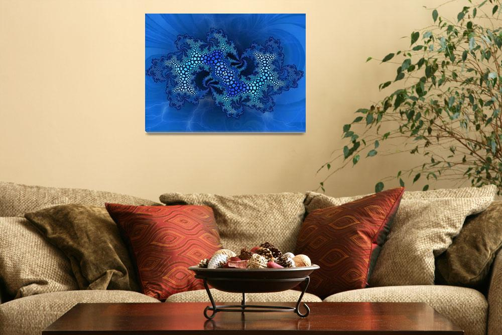 """Blue Lizard skin""  (2009) by digitalmedia"
