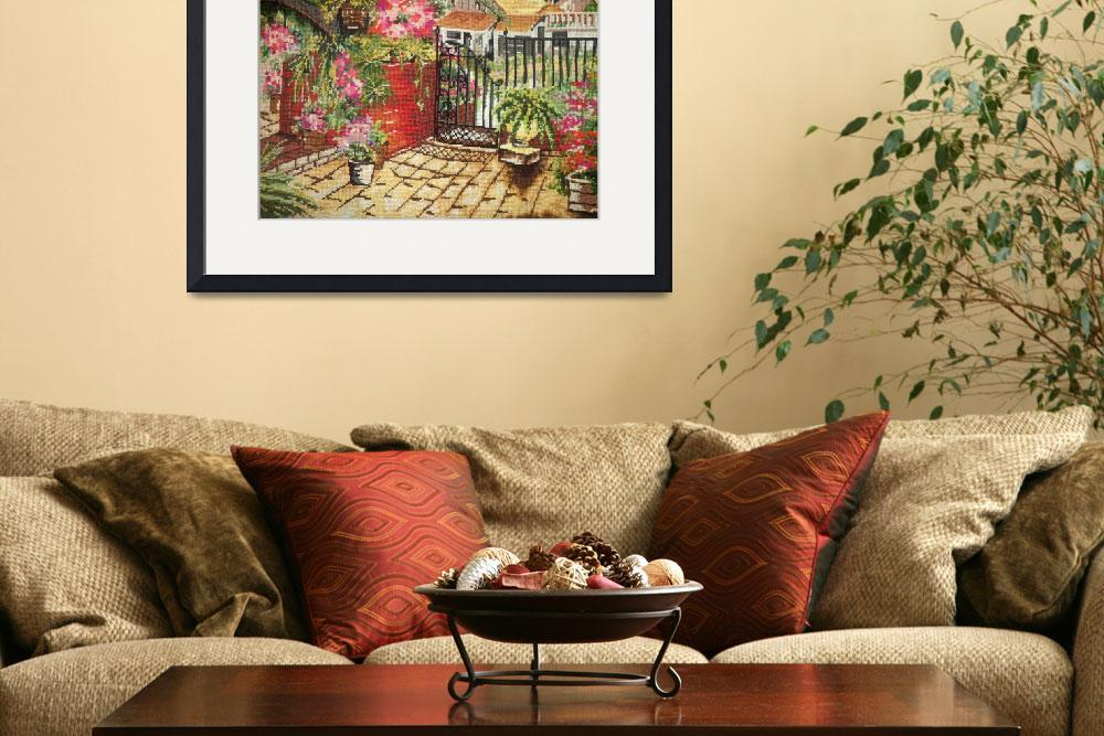 """Courtyard Needlepoint&quot  (2011) by TRELDesign"
