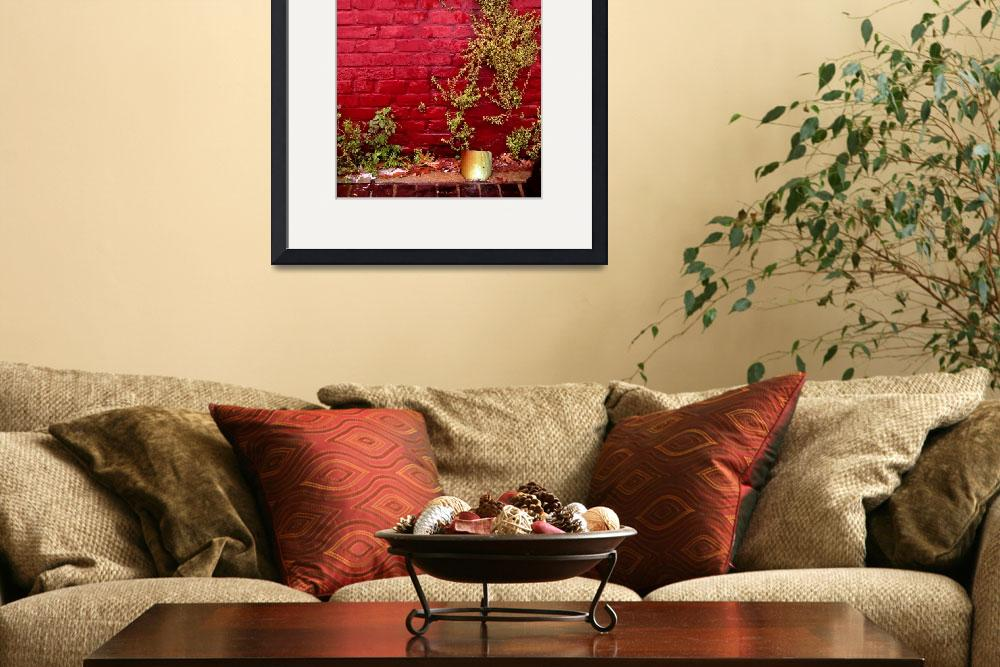 """""""Red Wall&quot  (2002) by jwoodphoto"""