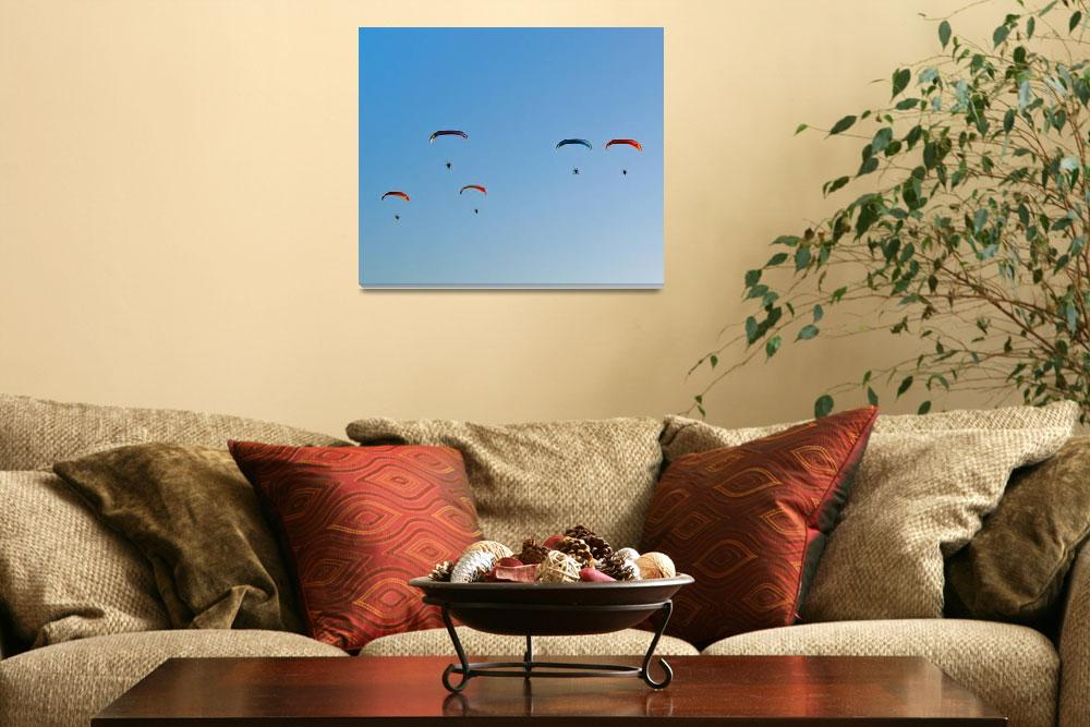 """Parachute Guardians""  (2009) by andrius"