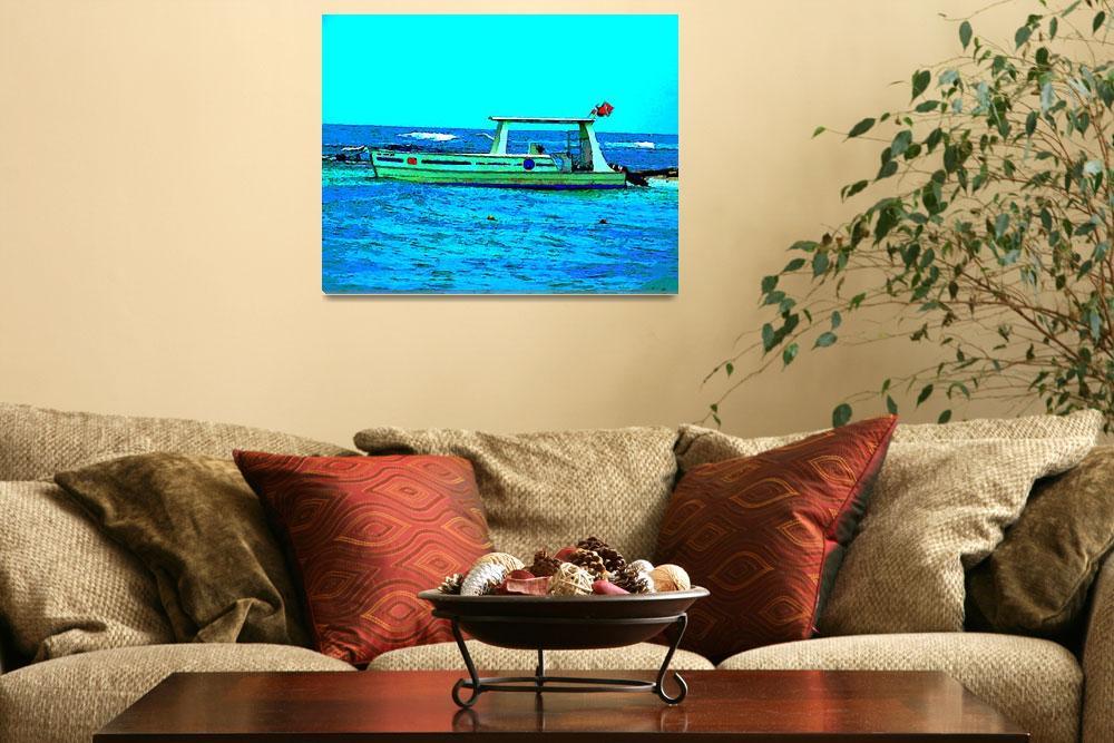 """Caribbean Scuba Diving Boat&quot  (2009) by Caribbean-Digital-Art"