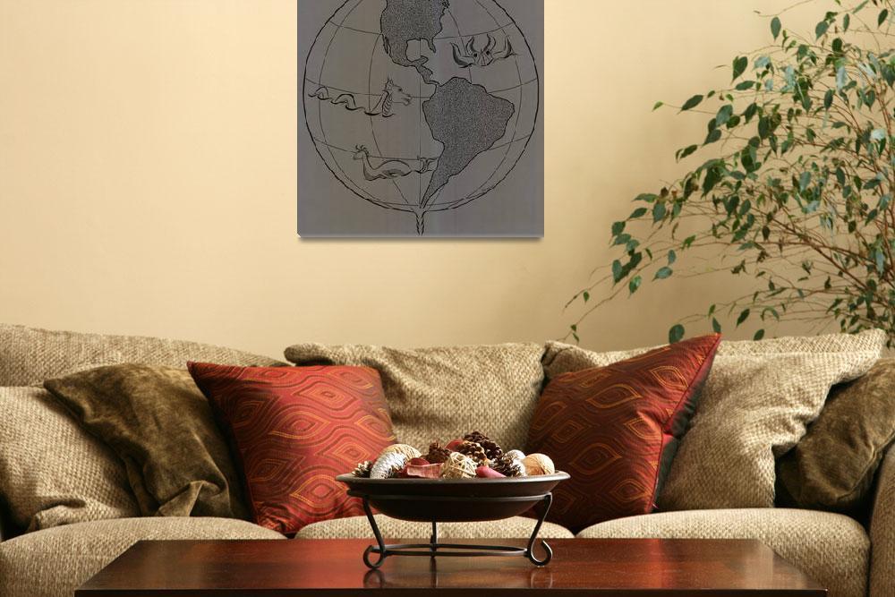 """Globe Maze&quot  (2011) by MalloryWestlund"