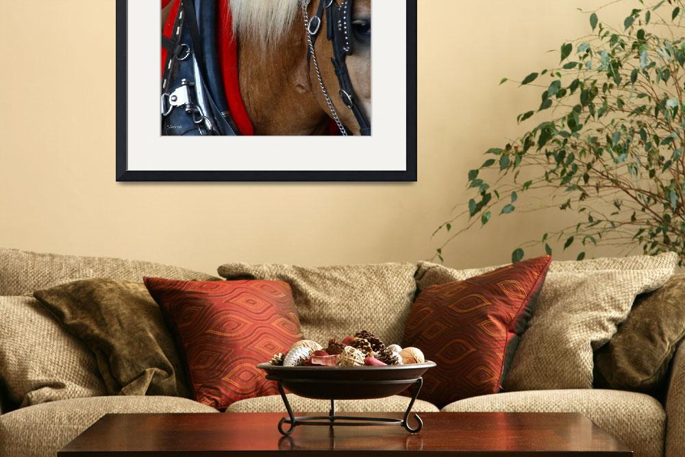 """""""Waiting ~Draft horse in Harness&quot  (2008) by inkandbrushcreations"""