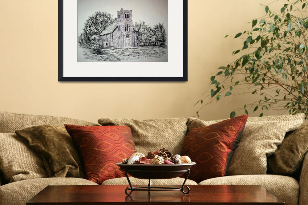 """""""Old stone church&quot  by RichardHall"""
