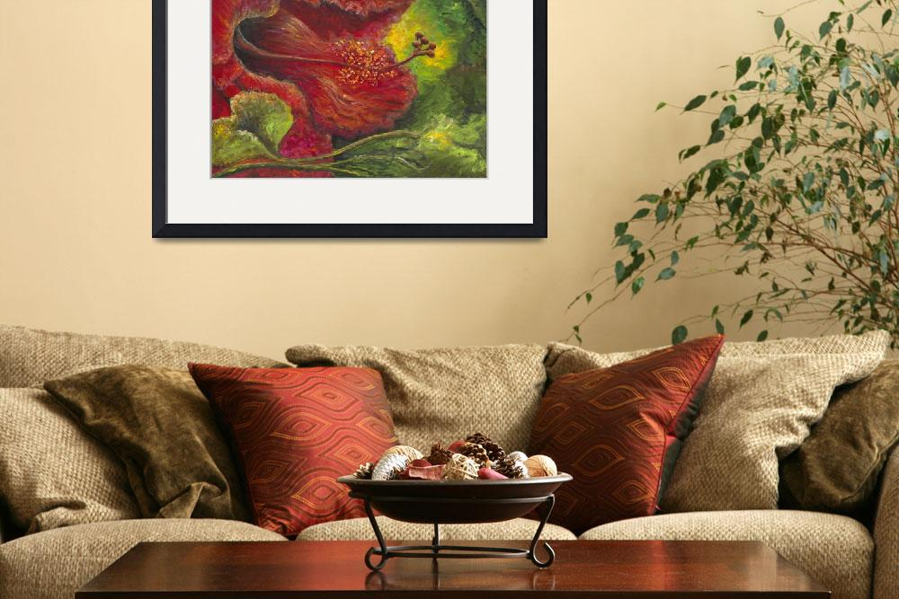 """""""Tropical Hibiscus&quot  (2009) by nadinerippelmeyer"""