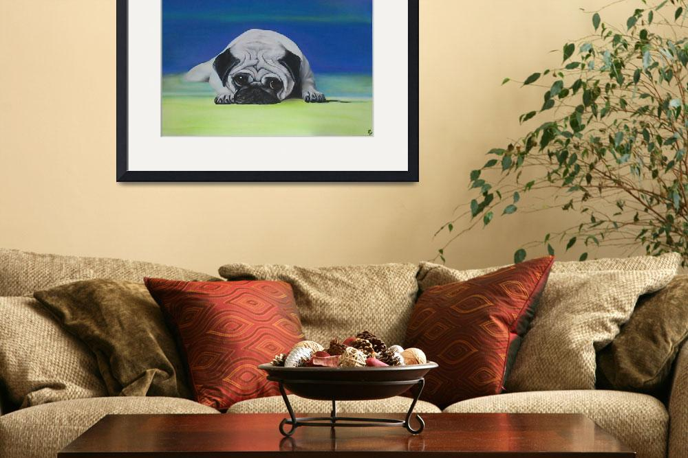 """Pug Dog""  (2006) by ArtPrints"