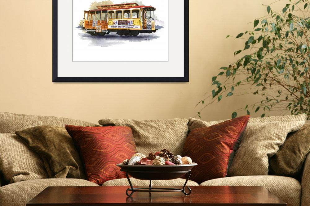 """Cable Car&quot  (2015) by k9artgallery"