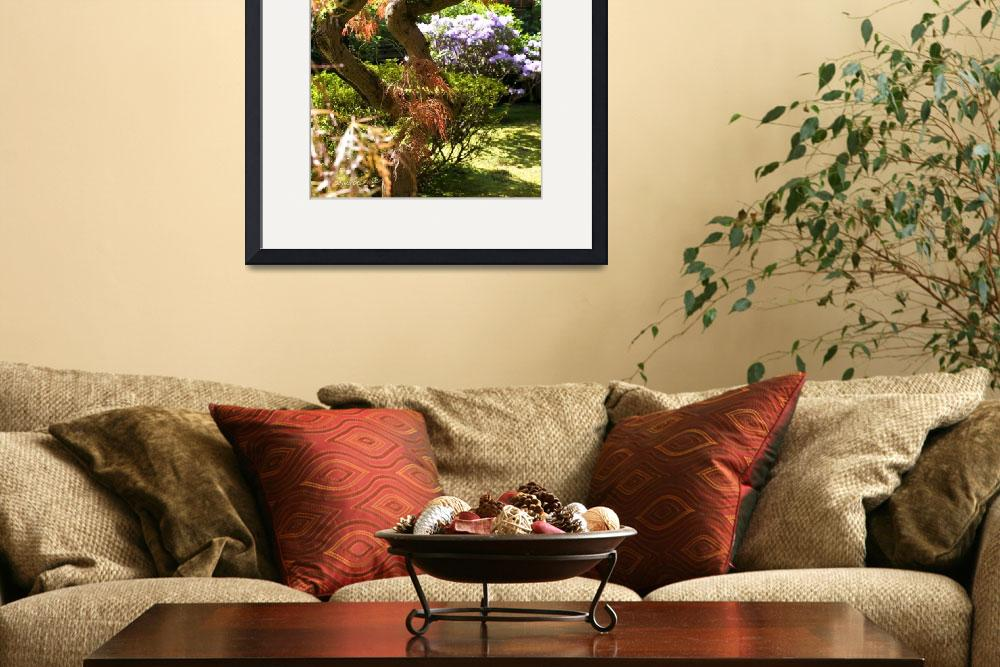 """""""Movement and Grace ~Japanese Garden&quot  (2008) by inkandbrushcreations"""