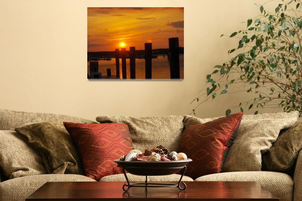 """""""Sunset on the bay.""""  (2008) by CherylK"""