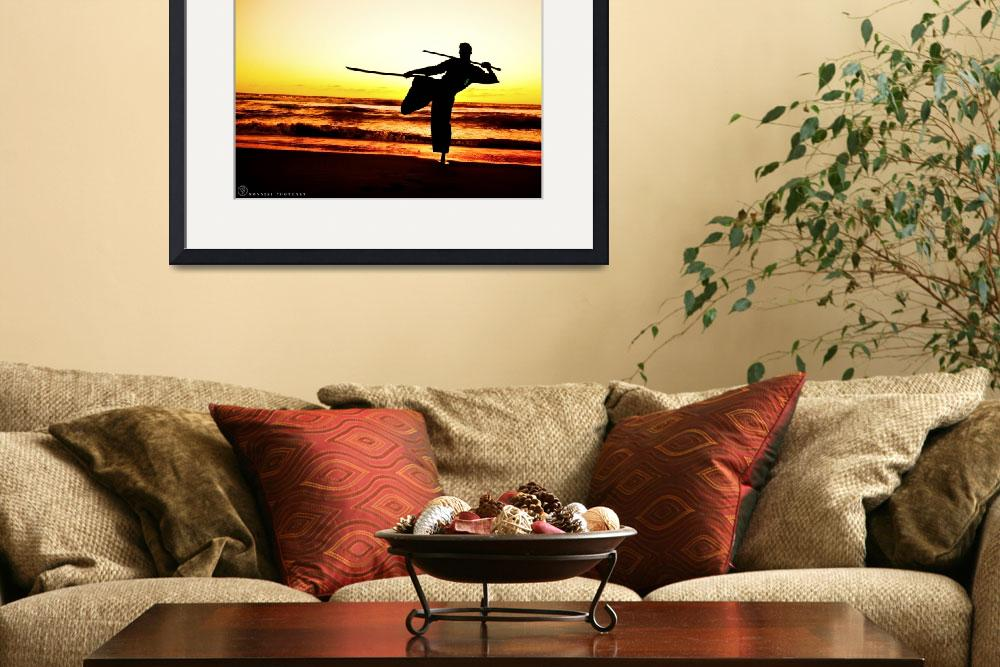 """Martial Arts Man Silhouette in Sunset w Dual Sword&quot  (2015) by NovazziPhotoArt"