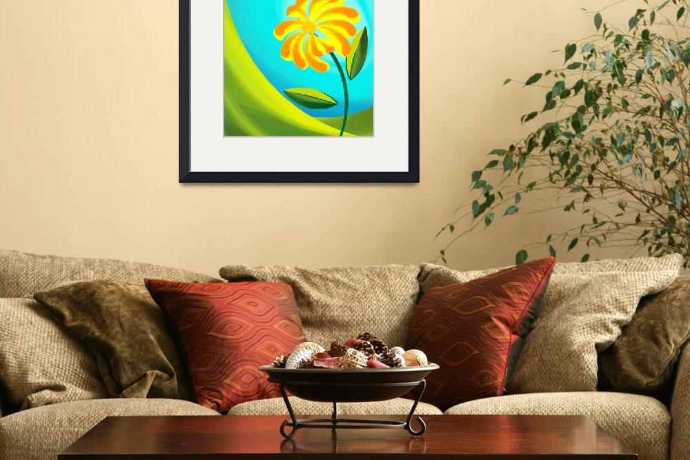 """""""Digital painting of flower and sun.&quot  (2010) by digitalpainting"""
