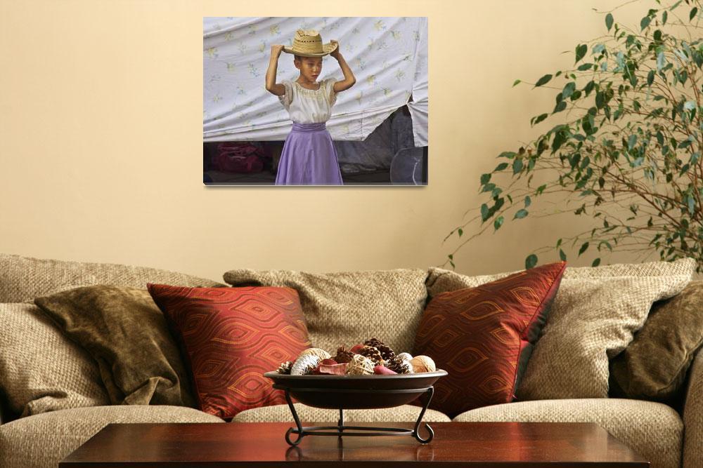 """Girl Dancer with Hat, Santa Fe""  (2008) by johnhansen_art"