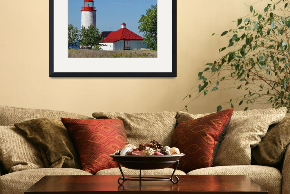 """""""Nine Mile Point Lighthouse""""  (2007) by seaside_ron"""