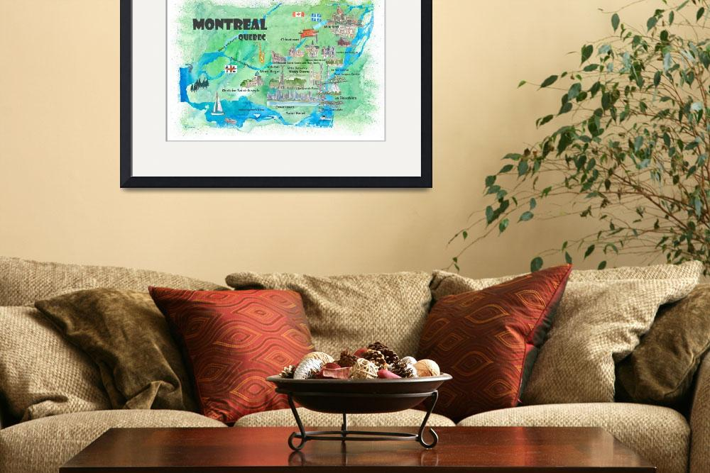 """""""Montreal Quebec Canada Travel Poster Favorite Map&quot  (2019) by arthop77"""