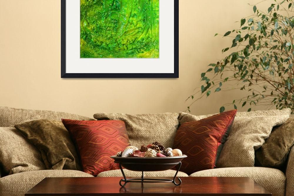 """""""Green Abstract&quot  by JuliaFineArt"""