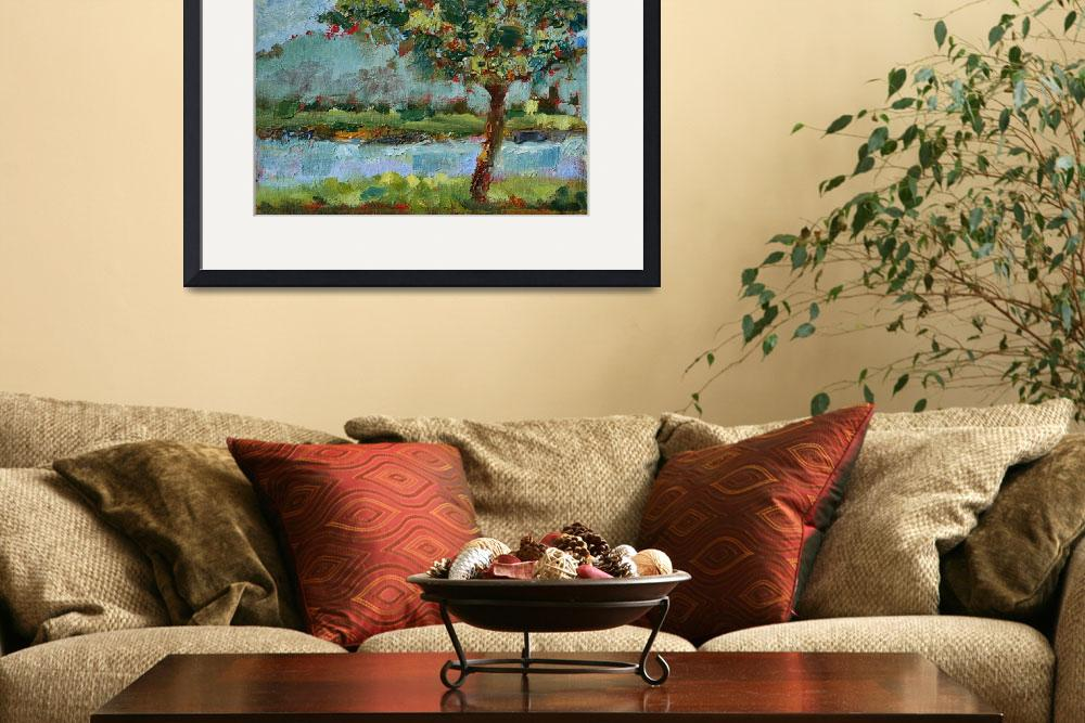 """""""A Tree by River""""  (2014) by joshualanceart"""