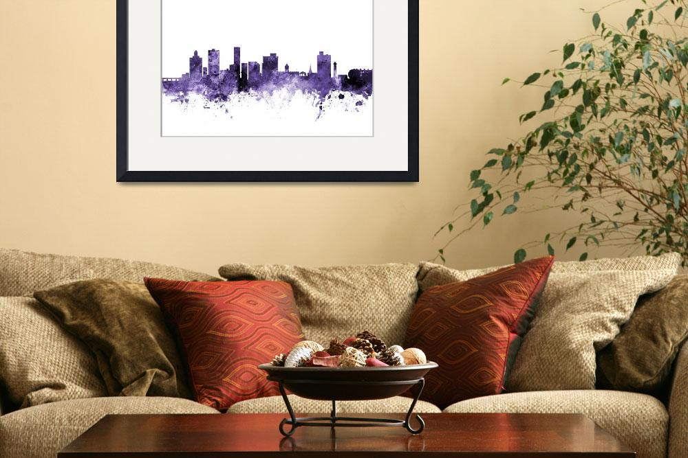 """Port Elizabeth South Africa Skyline""  (2018) by ModernArtPrints"