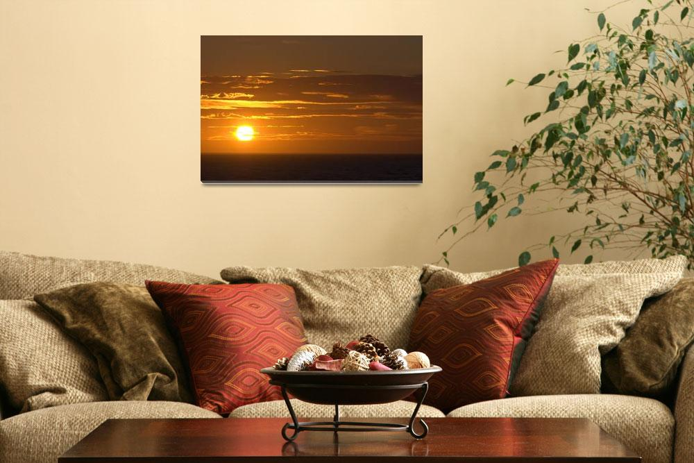 """""""Sunset at Gulf of St Lawrence&quot  by stocktrekimages"""