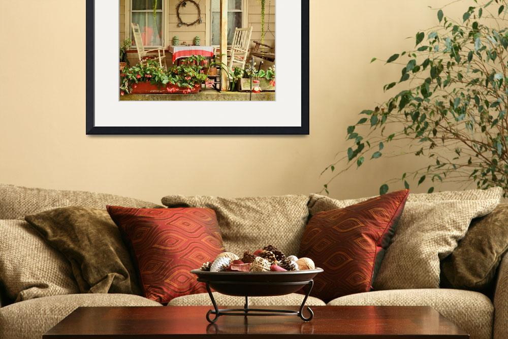"""""""Porch - Belvidere NJ - A table for two""""  by mikesavad"""