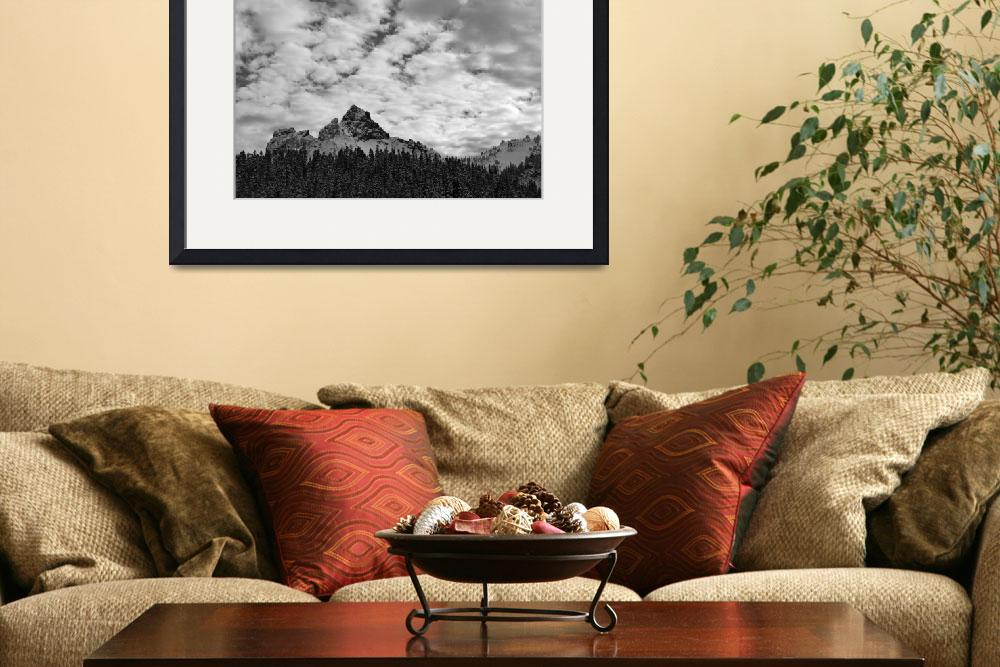 """2366-washington-mtrainier-tatooshmtns-bw&quot  by North22Gallery"