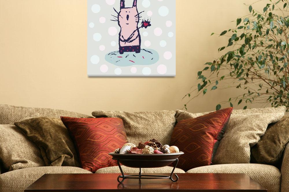 """Polka Dot Kitty&quot  by artlicensing"