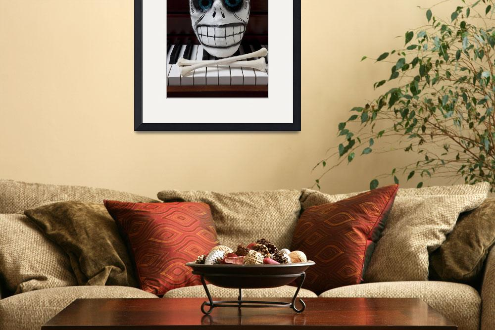 """Skull mask with bones&quot  (2012) by photogarry"